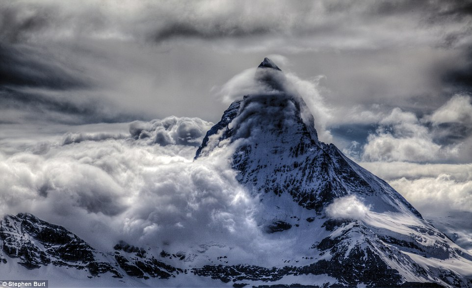 Shrouded peak: Stephen Burt's Matterhorn Banner Cloud, taken in Switzerland on May 26, 2014, from the Gornergrat glacier