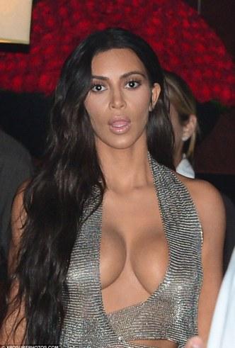 Breathless: The dark-eyed Kim let her raven locks spill over her shoulder