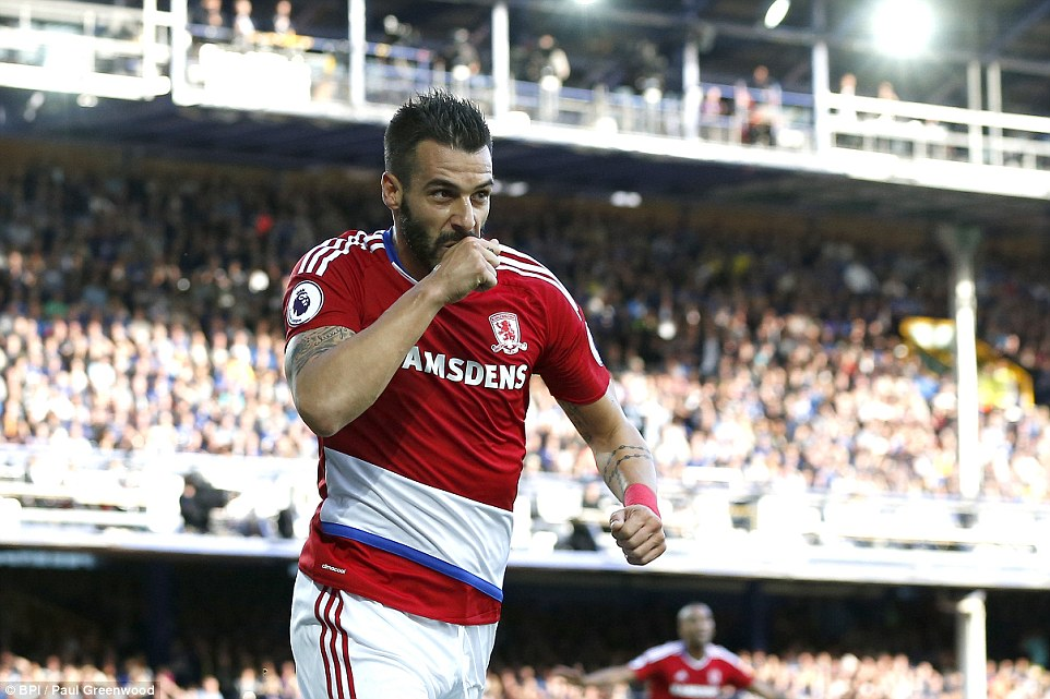 Alvaro Negredo claimed credit for scoring Middlesbrough's opening goal before it was credited to Maarten Stekelenburg