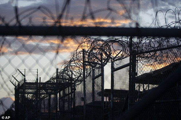 Ghassan Abdallah al-Sharbi, a prisoner at Guantanamo Bay (pictured) said he heard a religious figure in Saudi Arabia used the term 'your highness' during a telephone conversation