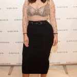 Plus Size Model Ashley Graham Dons Sheer Blouse At NYFW