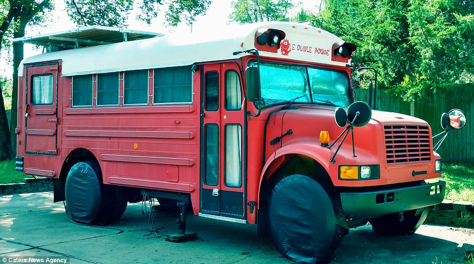 His friends initially thought he was crazy but were impressed by his creativity and how roomy the bus was