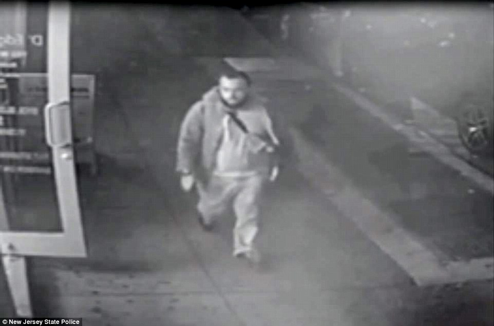 Rahami is seen above in CCTV footage released by the FBI on Monday. He is now wanted in connection to all three of the bombings or attempted bombings in New York and New Jersey this weekend