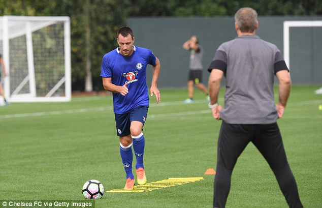 Image result for John Terry fit to return from ankle injury against Manchester United – Conte