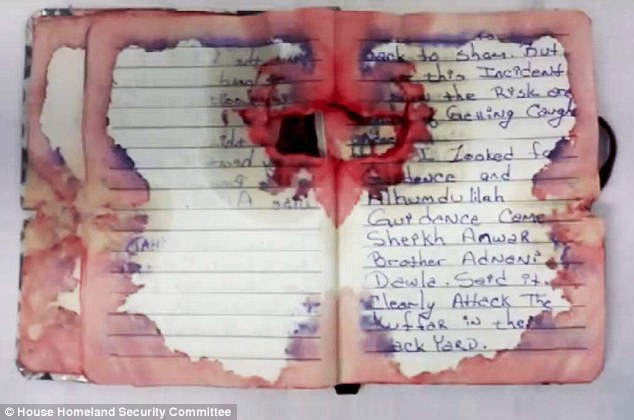 This is the blooded and bullet-ridden notebook found on Ahmad Rahami when he was arrested on Monday