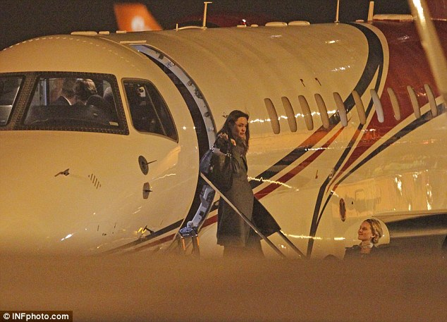 TMZ reports that the alleged episode, last Wednesday, prompted Angelina Jolie (pictured disembarking a plane in 2014) to split from the 52-year-old the next day and then file for divorce