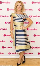 Posing up: Skelton appeared on Lorraine in her first TV interview since her presenting at Rio