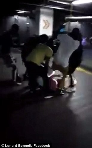 A white man was dragged and beaten by a mob while begging for mercy in a Charlotte parking garage