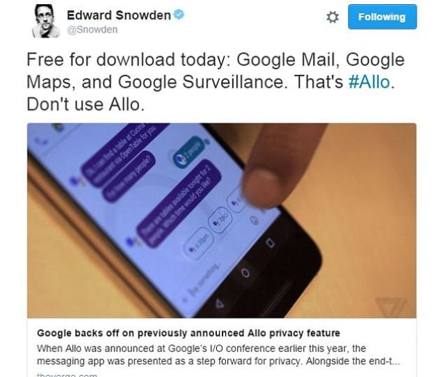 Allo Has Been Criticized In The Past For Its Privacy Issues But This Time Was