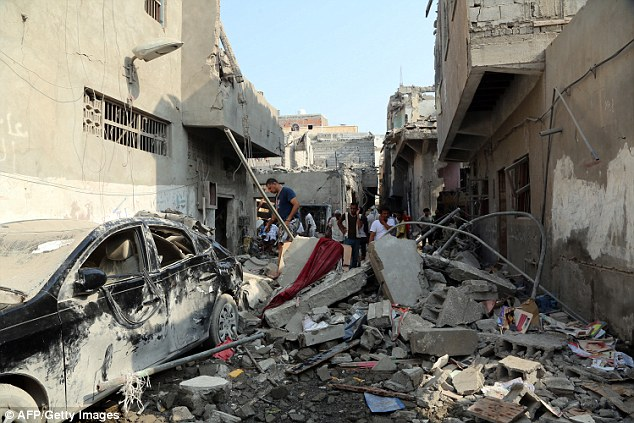 On Wednesday, the Saudi-led coalition bombed houses in the Red Sea port city of Hodeidah (pictured) in Yemen, killing at least 32 civilians