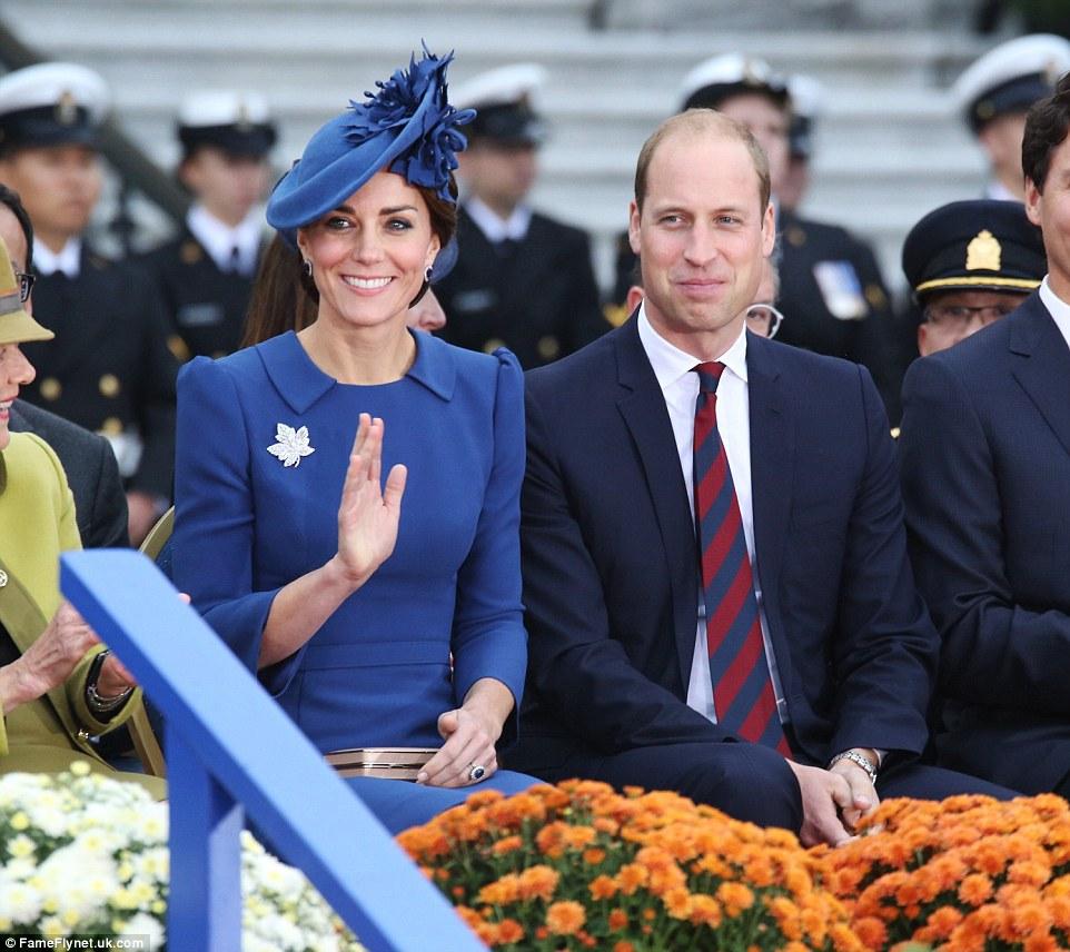 """Trudeau disse: """"Eu quero elogiá-lo e agradecer-lhe para introduzir a nossa parte do mundo para Prince George e da princesa Charlotte '"""