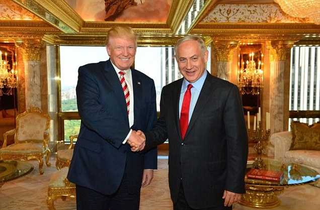 Bibi meets The Donald in NYC and tells him a thing or two about building a wall while