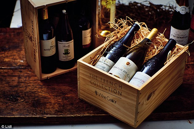 lidl fishing chair carlisle dining claims new range of wines at 10 or less are just as good its french wine cellar collection pictured rivals expensive from some