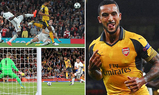 Arsenal 2-0 Basle: Gunners cruise to victory at the Emirates as Theo Walcott stars in