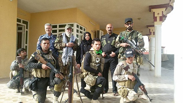Pictures on the militia leader's Facebook page show her alongside heavily-armed fighters, who she has led in successful operations against ISIS