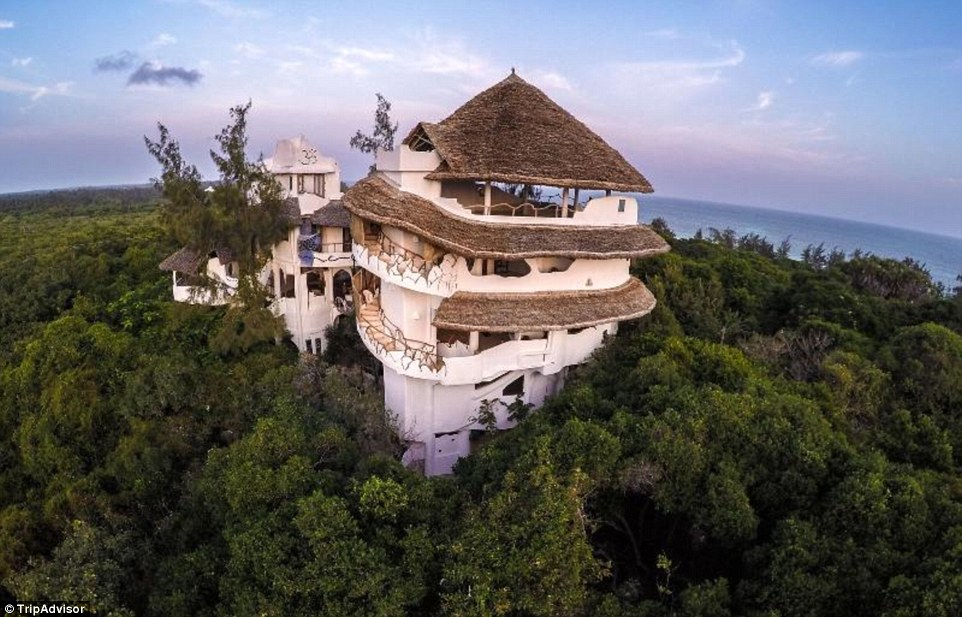 This spiralling Kenyan property provides a 360-degree panorama that includes both the native forest and the Indian Ocean