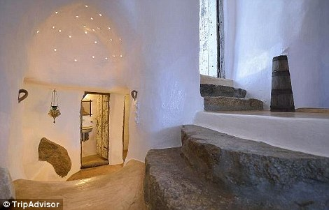 Winding steps and cave-like passageways give it a hobbit-like charm