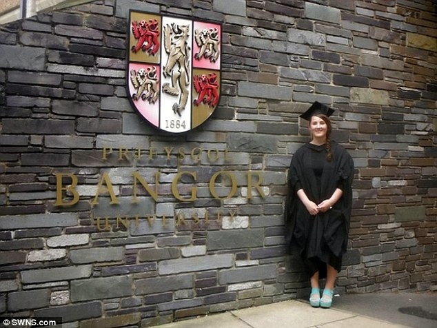 The 22-year-old graduate remains determined to pursue her dreams and become a solicitor