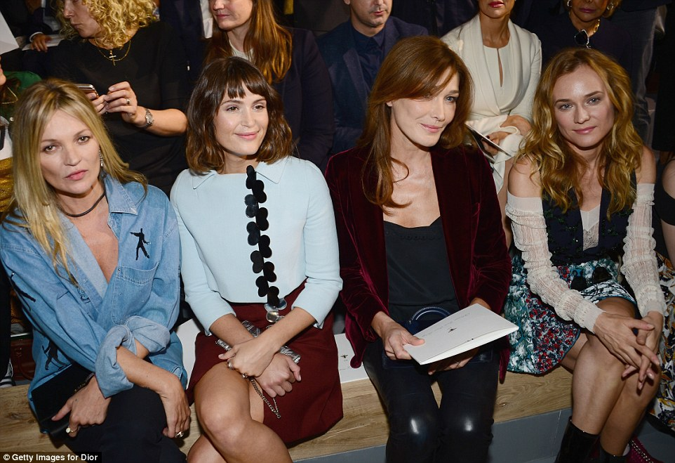 Star-studded FROW: Kate, Gemma, Carla and Diane made a dazzling front row as they checked out the designs