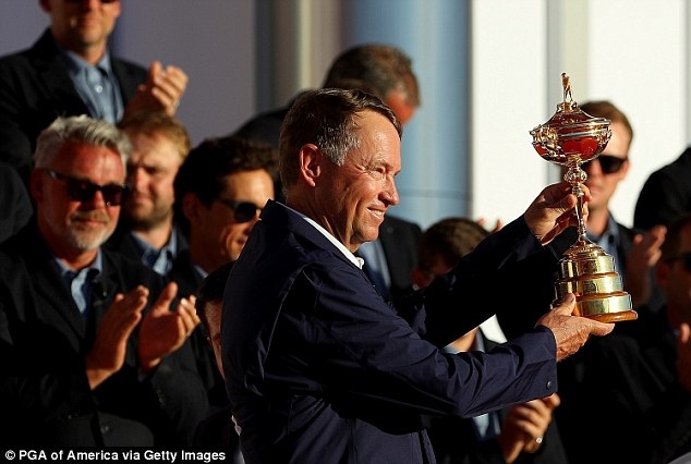 Love saluted his players after routing the Europeans to win the 41st Ryder Cup on Sunday