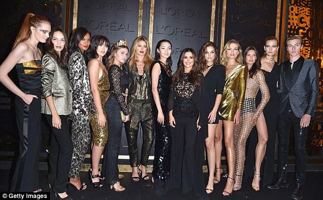 O plantel do glam: Os embaixadores da marca também ostentou conjuntos complementares