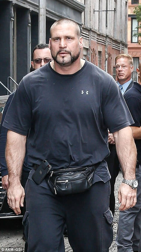 Kardashian's main bodyguard Pascal Duvier - who was not with her at the time of the robbery - returned to New York today