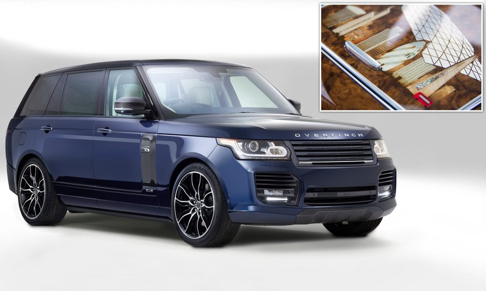 medium resolution of the london edition 250k overfinch range rover emblazoned with landmarks this is money