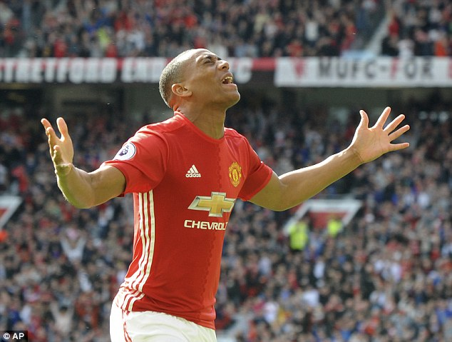 Young French striker Martial currently has 18 goals in his 57 appearances for United
