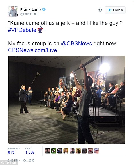 That went well: Kaine did not endear himself to his own supporters in one focus group of Ohio voters