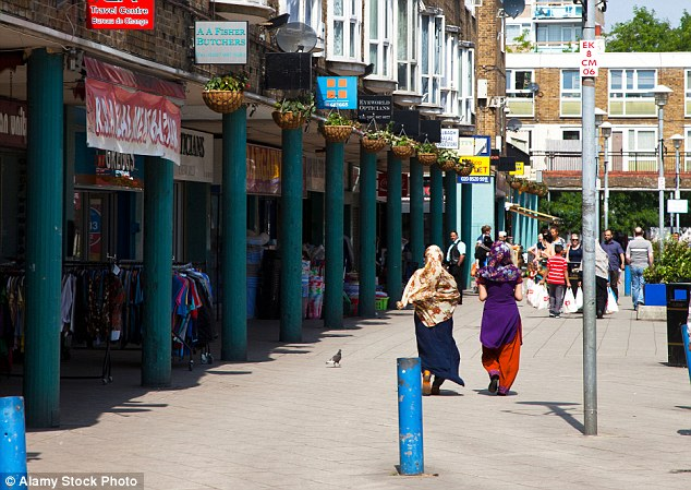 Spotted: The dress was found on sale at Chrisp Street Market (pictured) in Poplar, East London