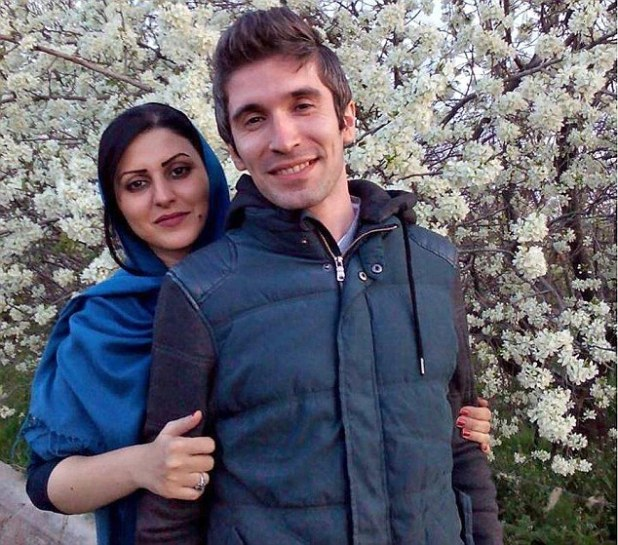 Golrokh Ebrahimi Iraee (pictured here with her husband), a writer and human rights activist, has been convicted of 'insulting Islamic sanctities' because of her fictional story about stoning