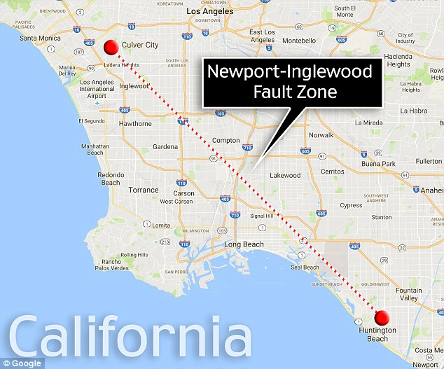 researchers have found that the newport inglewood fault a major formation that spans the