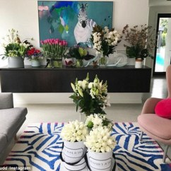 Living Room Flowers Decorate Online Rebecca Judd Shares Instagram Photo Of Her Full Flower Power Has Been Inundated With Floral Gifts Since She Gave Birth