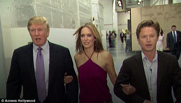 Trump made sexual comments about women to Billy Bush (right)