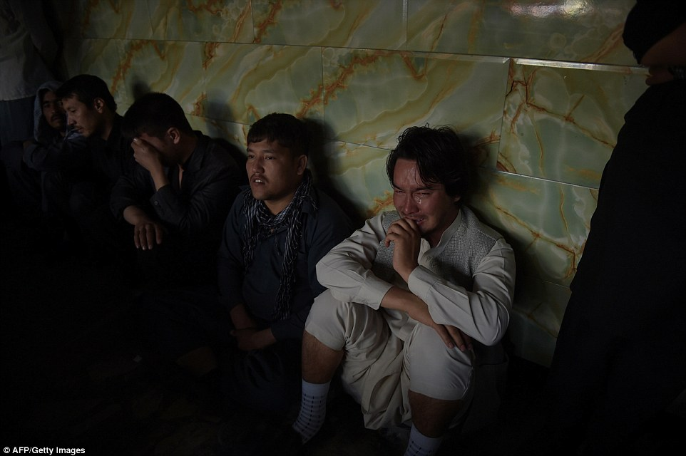 Some of the spectators could be seen breaking down in tears as the brutal ritual unfolded in front of them in Afghanistan