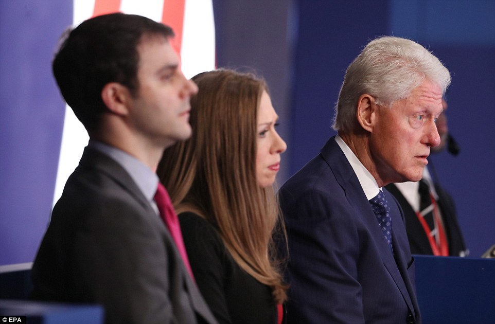 Focus: Bill Clinton was repeatedly the focus of the debate as Donald Trump raised allegations he was ab abuser of women, while Hillary cited his economic record in office