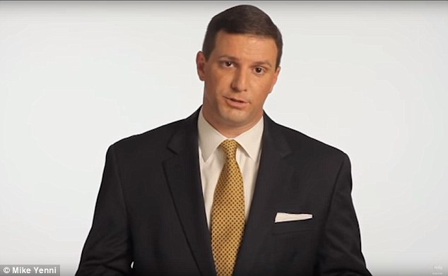 He also released an infomercial (pictured),where he apologizes for the messages - but doesn't broach other allegations, including claims he kissed the boy and bought him underwear