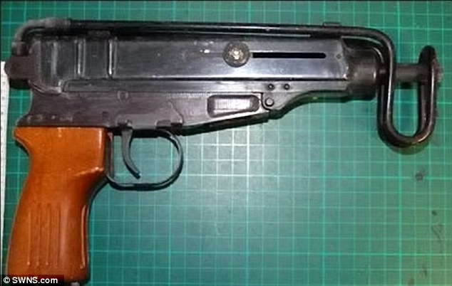 Skorpion machine pistol is capable of firing 850 rounds per minute, and was found among Carvalho's delicates with two other firearms: a revolver and a self-loading Makarov pistol