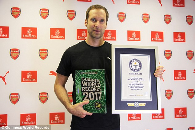 Image result for Arsenal petr cech Guinness Book of Records