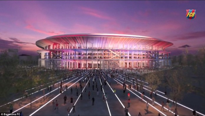Barcelona announced plans to rejuvenate Nou camp and increase capacity to over 100,000