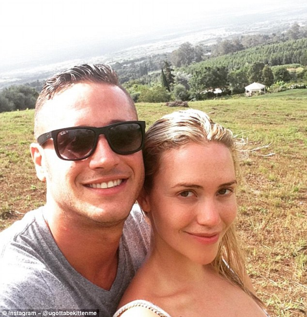 Not a nipple pasty in sight! Danny Mountain and wife Mia Malkova