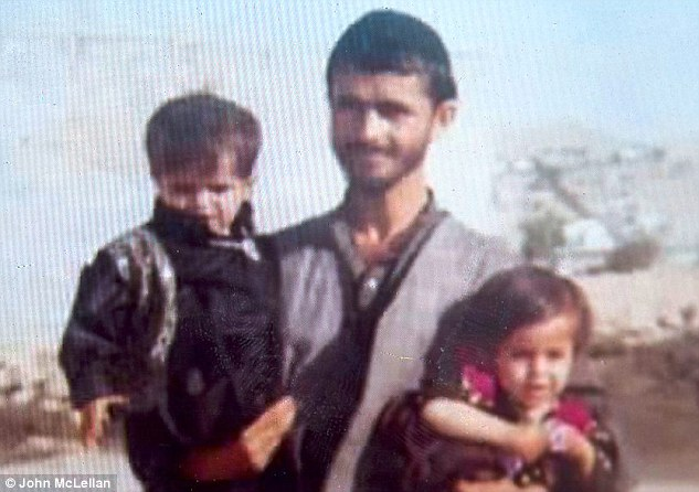 Picture of Shamsher Sherin, who Lily allen apologised to on behalf of the whole UK, taken in Afghanistan ten years ago with his father Hazrat Gul Sherin and his sister