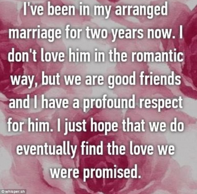 One woman offered a level-headed outlook on romance, admitting that she wasn't in love with her husband of two years, but conceding that she had a 'profound respect' for him