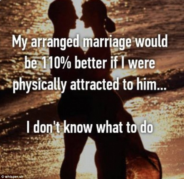 Proving that a physical attraction can't be dismissed when tying the knot, this woman said everything would be 110 per cent better if there was chemistry