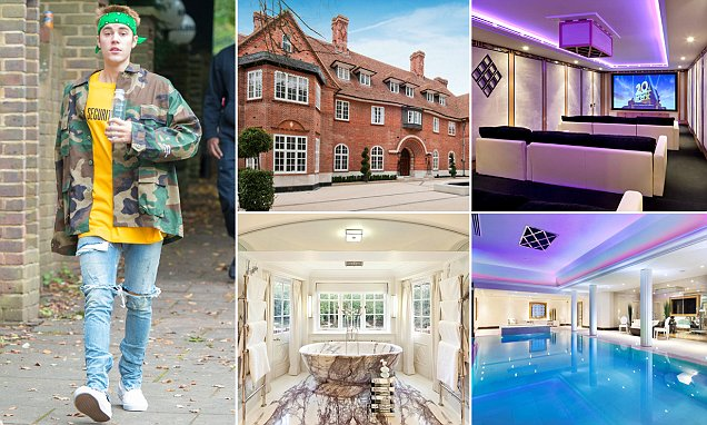 Justin Bieber moves to UK and rents £108,000-a-month North London party pad