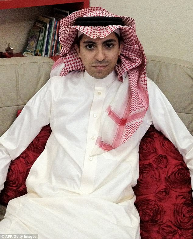 Abhorrent: The family of Mr Badawi, 33, pictured in 2012 before his arrest,  is urging the newly-ascended Crown Prince of Saudi Arabia to pardon him