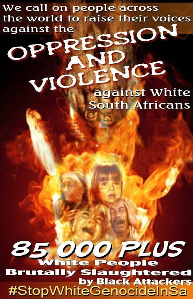 Alleged violent crime against white South Africans is reported  on social media sites under the hashtag #StopWhiteGenocideInSA and is also used to promote the new whites-only project