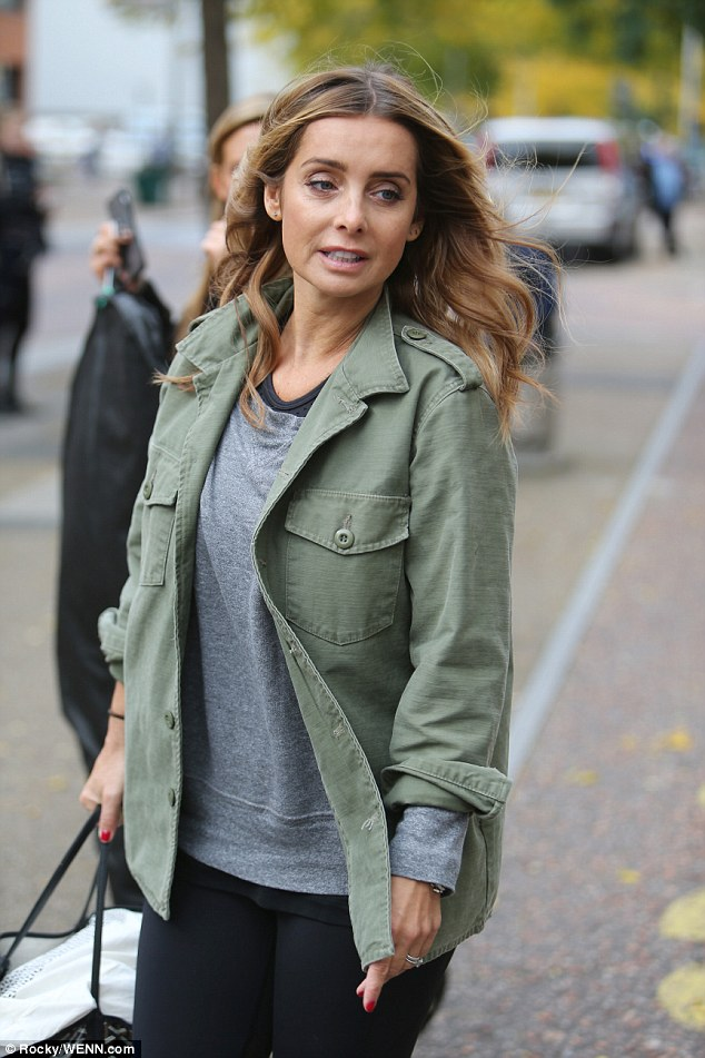Strictly focused: Louise Redknapp got her dancing shoes back on as she arrived at the ITV studios for rehearsals in London on Thursday