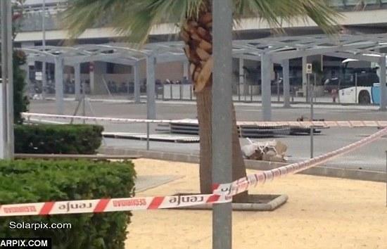 Malaga Airport Steven Allford Crime Scene - Image Copyright SolarPix.Com