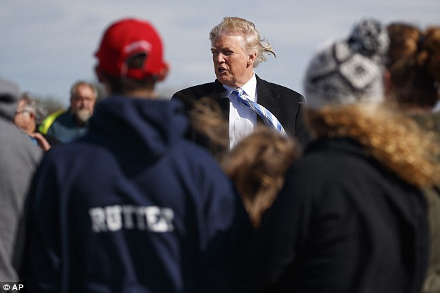 Trump's Gettysburg address – and the battlefield visit that followed – came on a day so windy that his signature coiffure flapped in the breeze